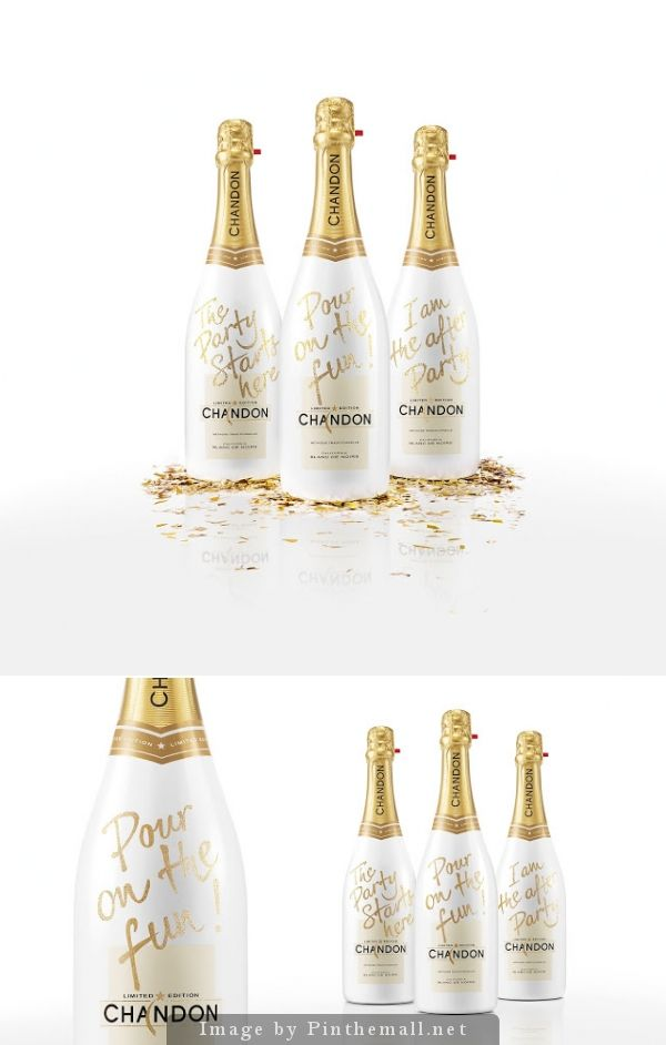 Chandon - Pours on the Fun #holiday #packaging by ButterflyCannon - http://www.packagingoftheworld.com/2014/11/chandon-pours-on-fun.html