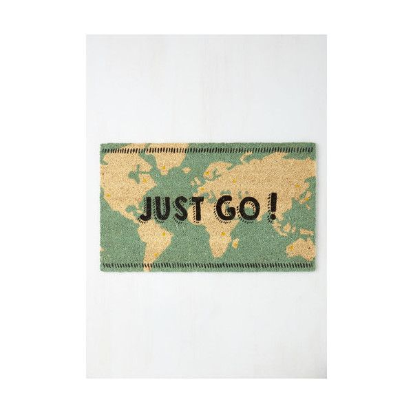 Travel Overseas What I Mean? Doormat (£24) ❤ liked on Polyvore featuring home, outdoors, outdoor decor, home accessory, multi, outdoor accessory, outdoor patio decor, outdoor garden decor, outdoor welcome mat and coir door mat
