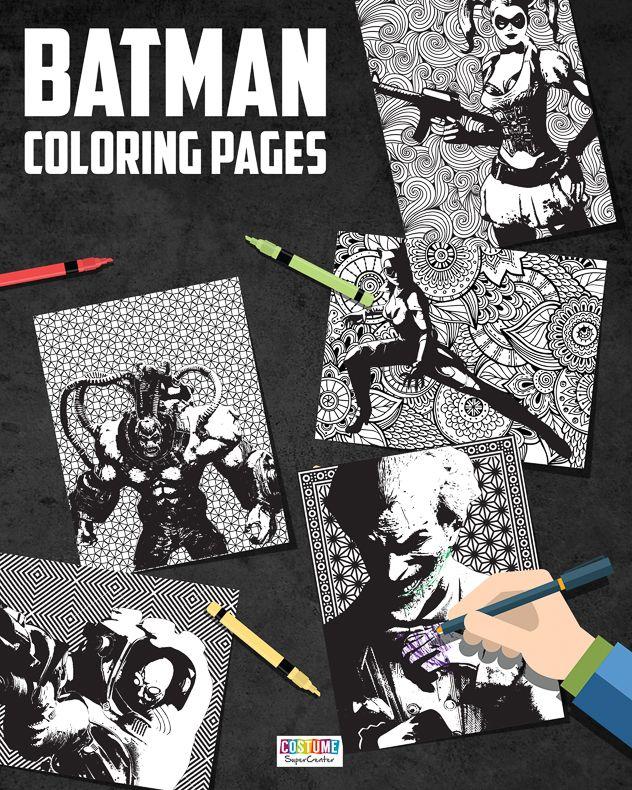 Batman Villains Printable Coloring Pages Batman Coloring Pages Coloring Pages Coloring Books