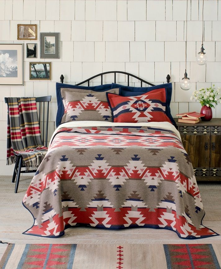 sets quilt arrowhead pin bedding rustic bed farm pendleton alchemical pieced set