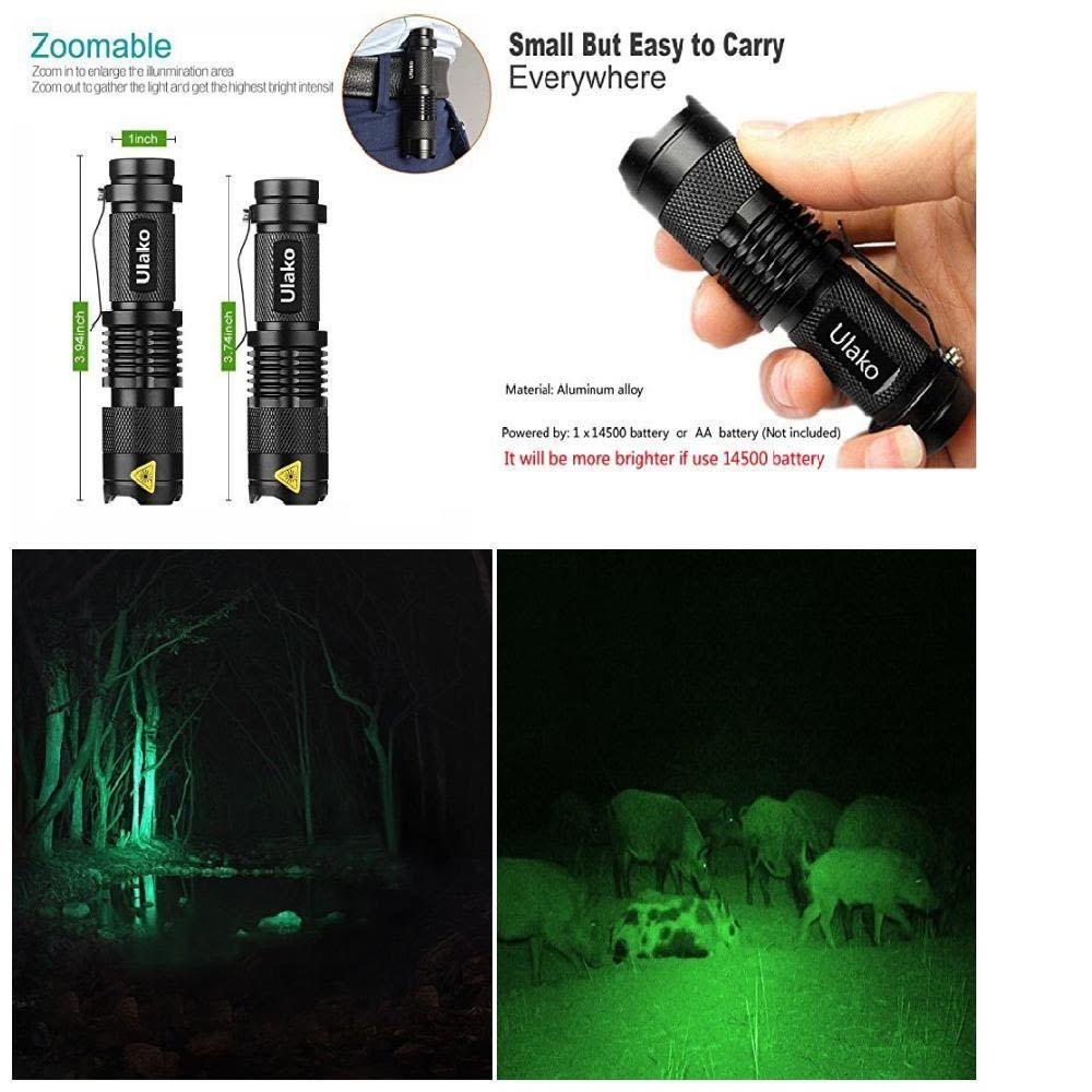 Waterproof Hunting Green Light Flashlight Torch LED Tactical Zoomable 150  Yard #Ulako