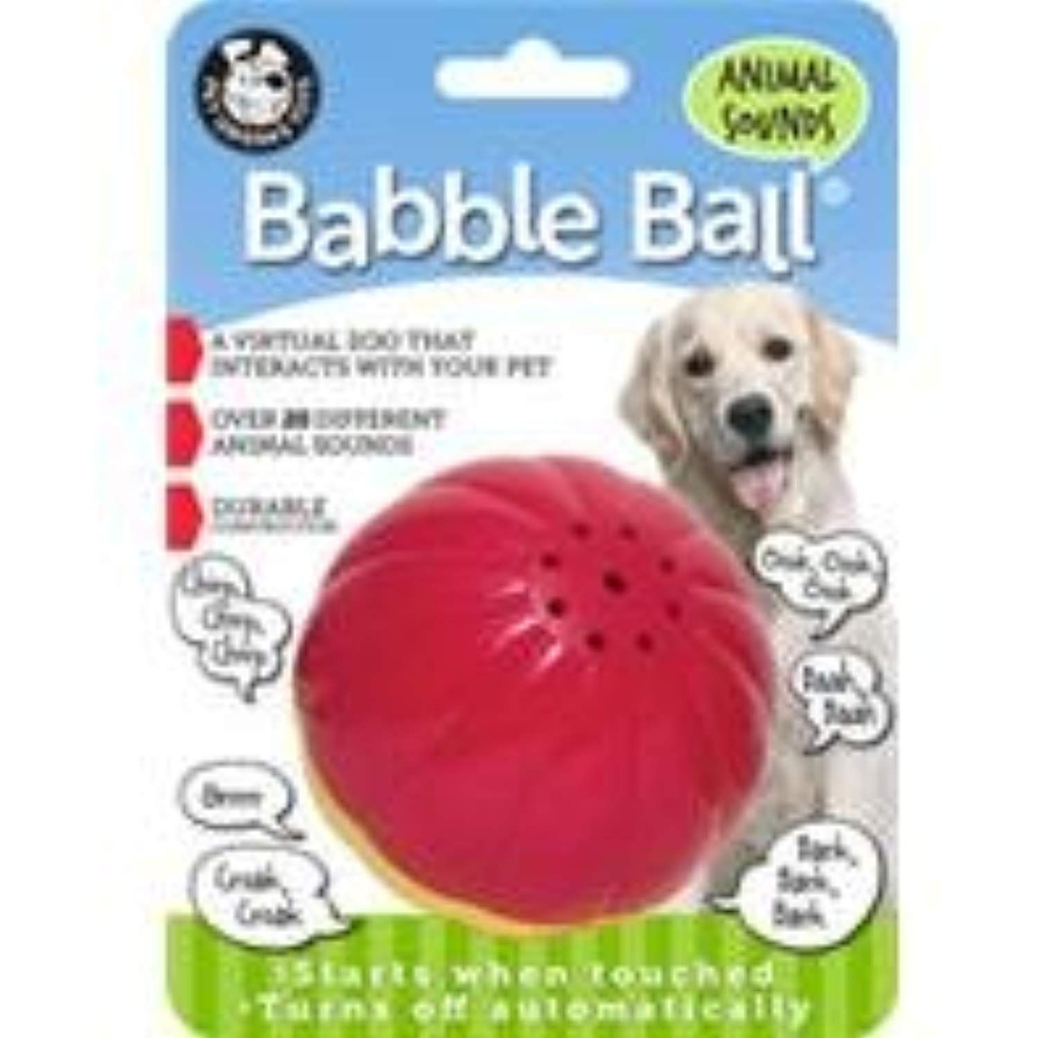 Animal Sounds Babble Ball Size Large Color Red Dogtoys