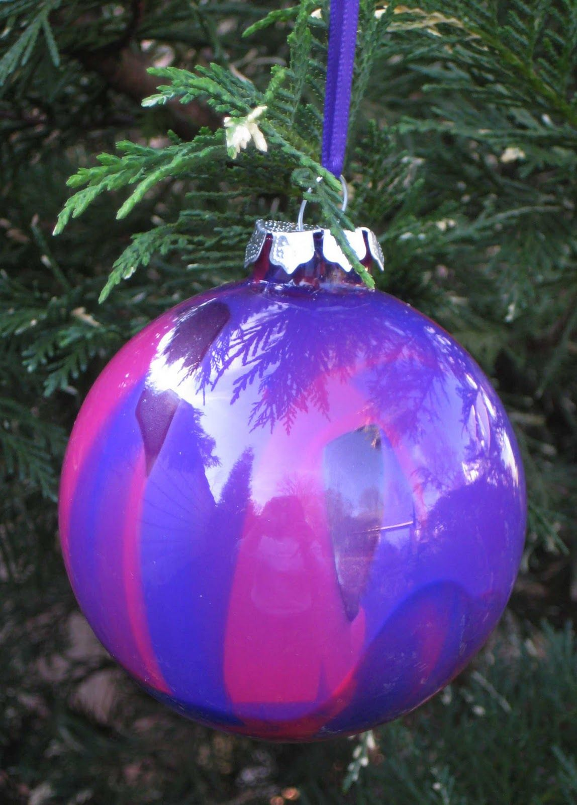 Painted glass balls add elegance to Christmas trees but what if