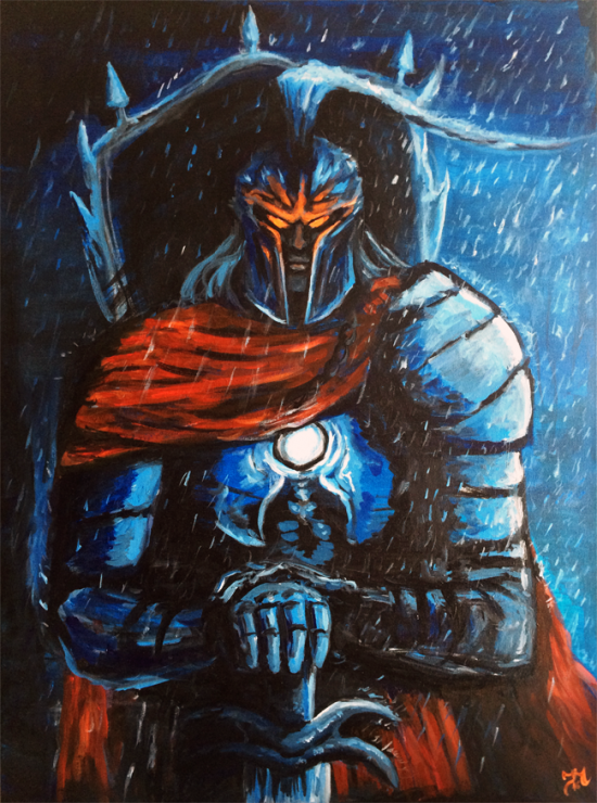 Acrylic painting on canvas Ares - Smite