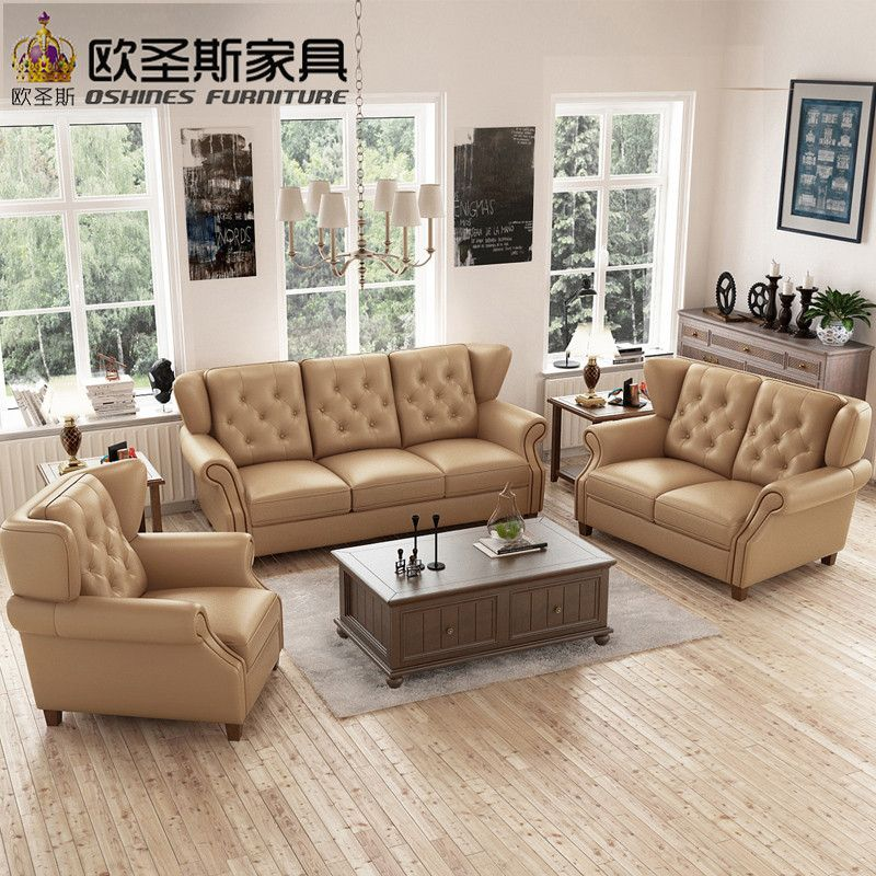 Latest Sofa Set Designs 6 Seater American Style Chesterfield New Antique Furniture Vintage Brown Leather Sofa Set Price F80a Affiliate