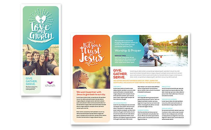 Church Brochure Template Design by StockLayouts Lay-out Designs - free leaflet template word