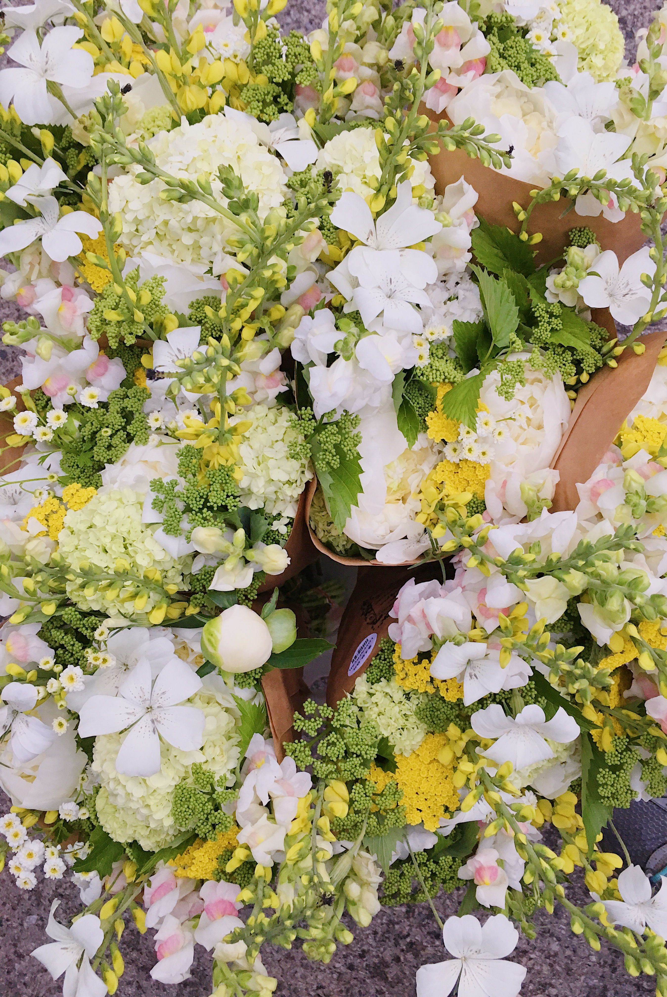 Yellow and White Spring Bouquets Flower farm, Fresh