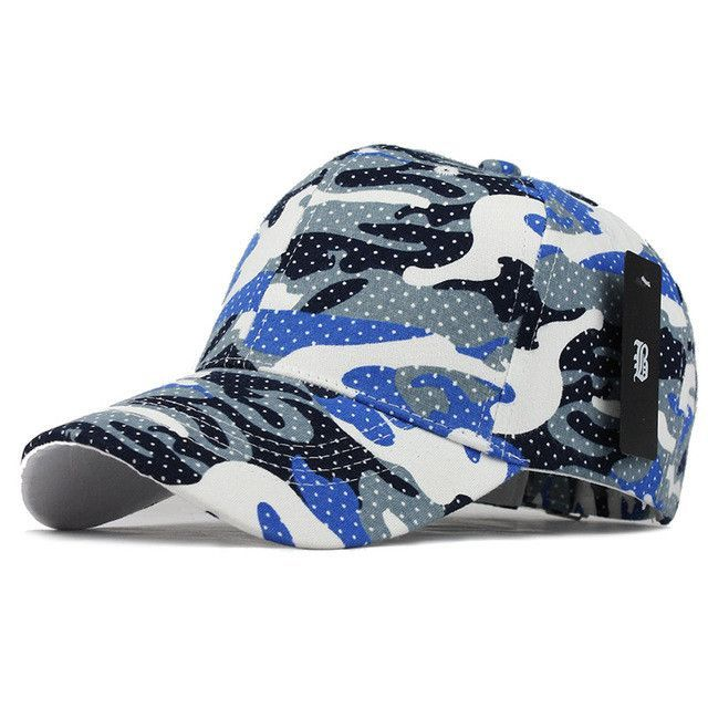 1e8dffbc8c4  FLB Wholesale 100% Cotton Fitted Hat Baseball Cap Casual Camouflage Dot casquette  Snapback Gorras Summer dad Hats For Men