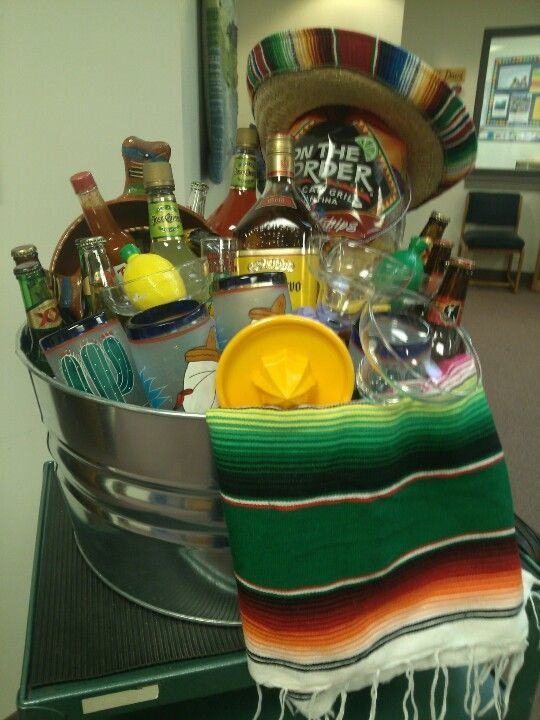 image result for spring themed raffle booze baskets