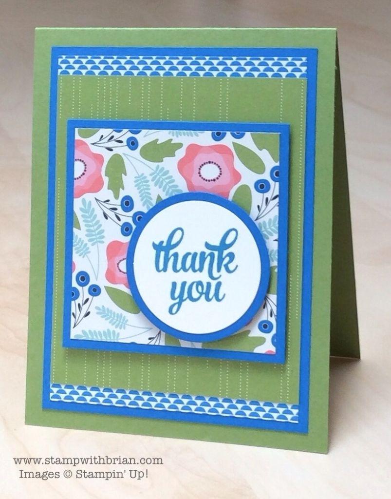 Tin Of Cards Stamp Set Pretty Petals Designer Series Paper Stack
