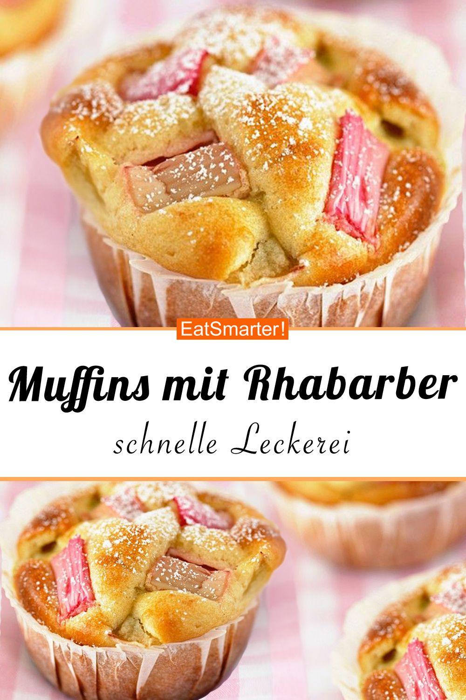 Muffins mit Rhabarber - smarter - Zeit: 20 Min. | eatsmarter.de #rhabarber #muffins #muffin