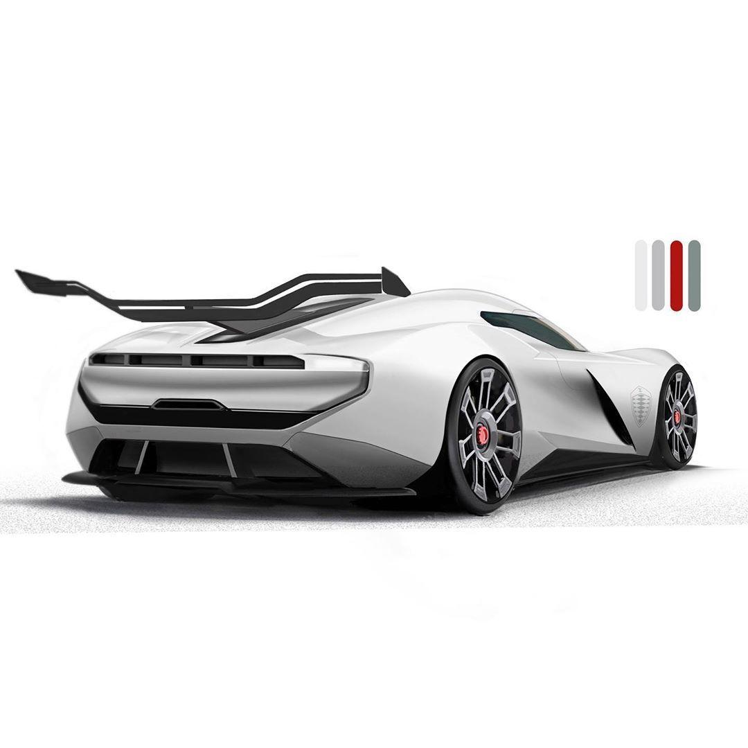"""Alex on Instagram: """"Koenigsegg fortuna. #koenigseggsketchchallenge #cardesigndaily #cardesign #concept #cliffdesign #koenigseggsketch #designsketch #regera…"""""""
