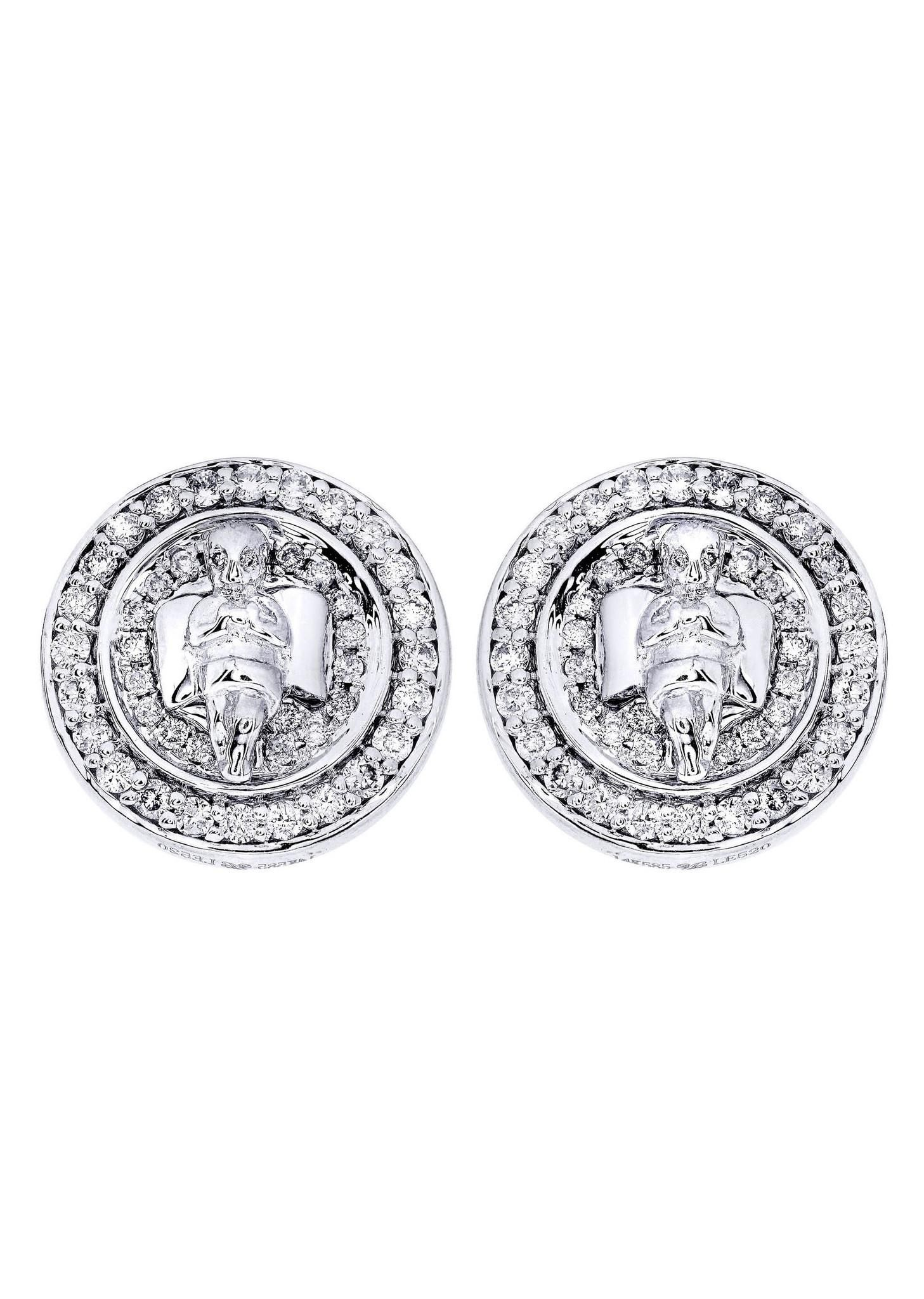 AdoreWe FROST NYC Diamond Earrings For Men 14K White Gold 0 82