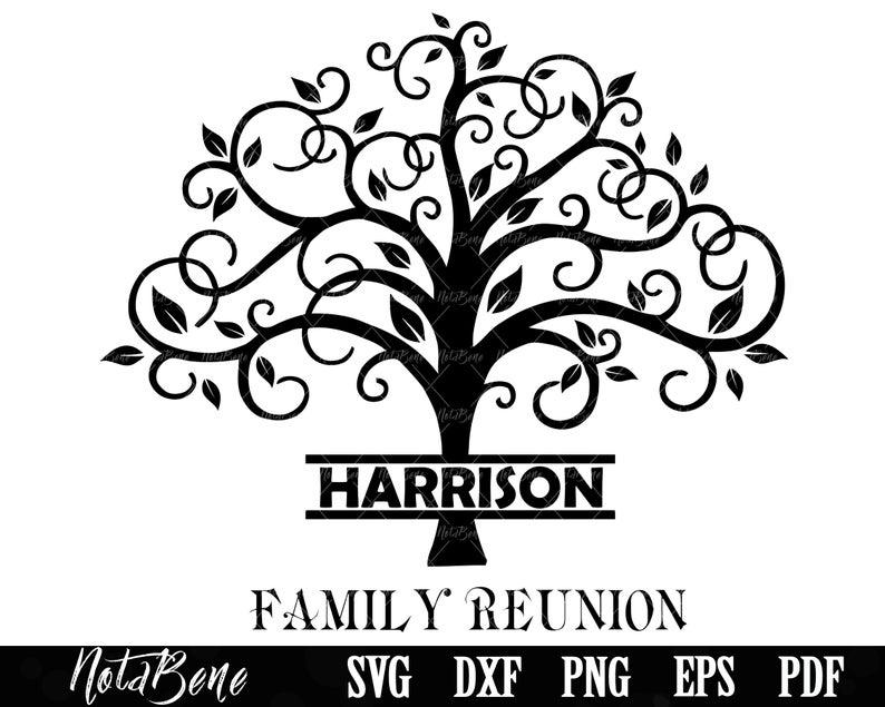 Family Reunion Svg Family Tree Svg Family Svg Tree Monogram Etsy Family Reunion Tree Svg Family Tree