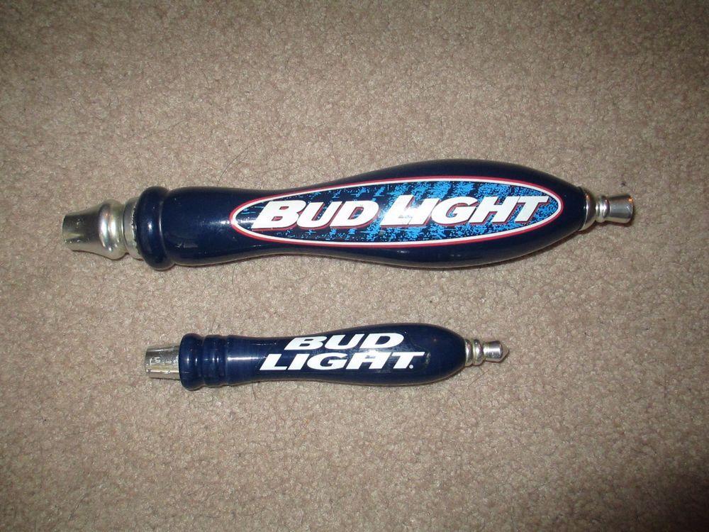 Budweiser Bud Light Beer Tap Handles Lot of 2 11 5