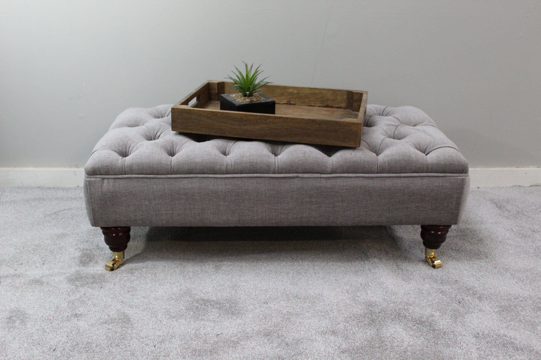 Large Grey Footstool Coffee Table Bespoke Ottoman Rouen Etsy Stoelen Huiskamer Bank [ 2000 x 3000 Pixel ]