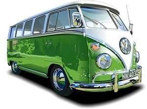 VW bus - green
