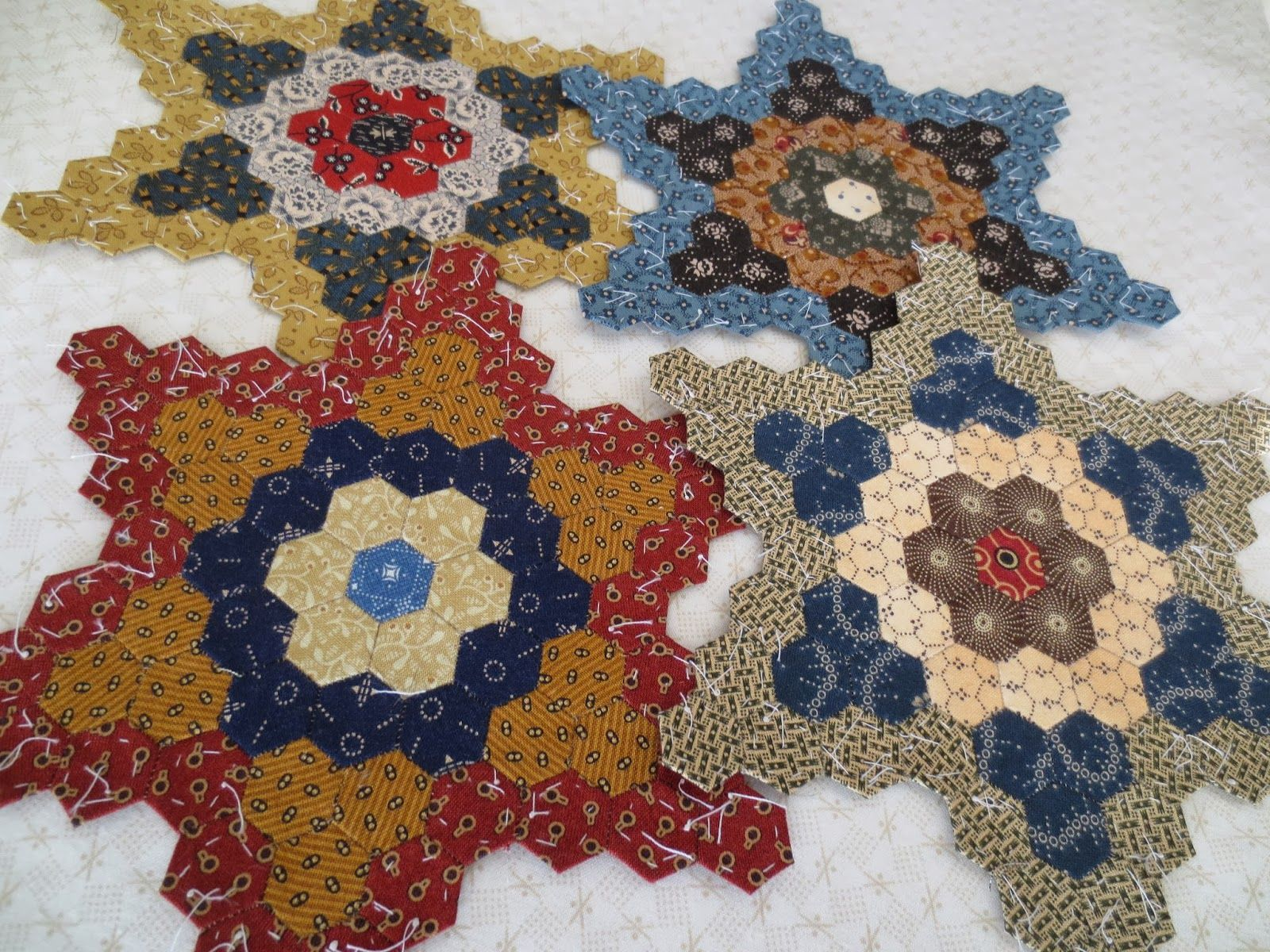Kindred Quilts 4th Hexie Star pleted