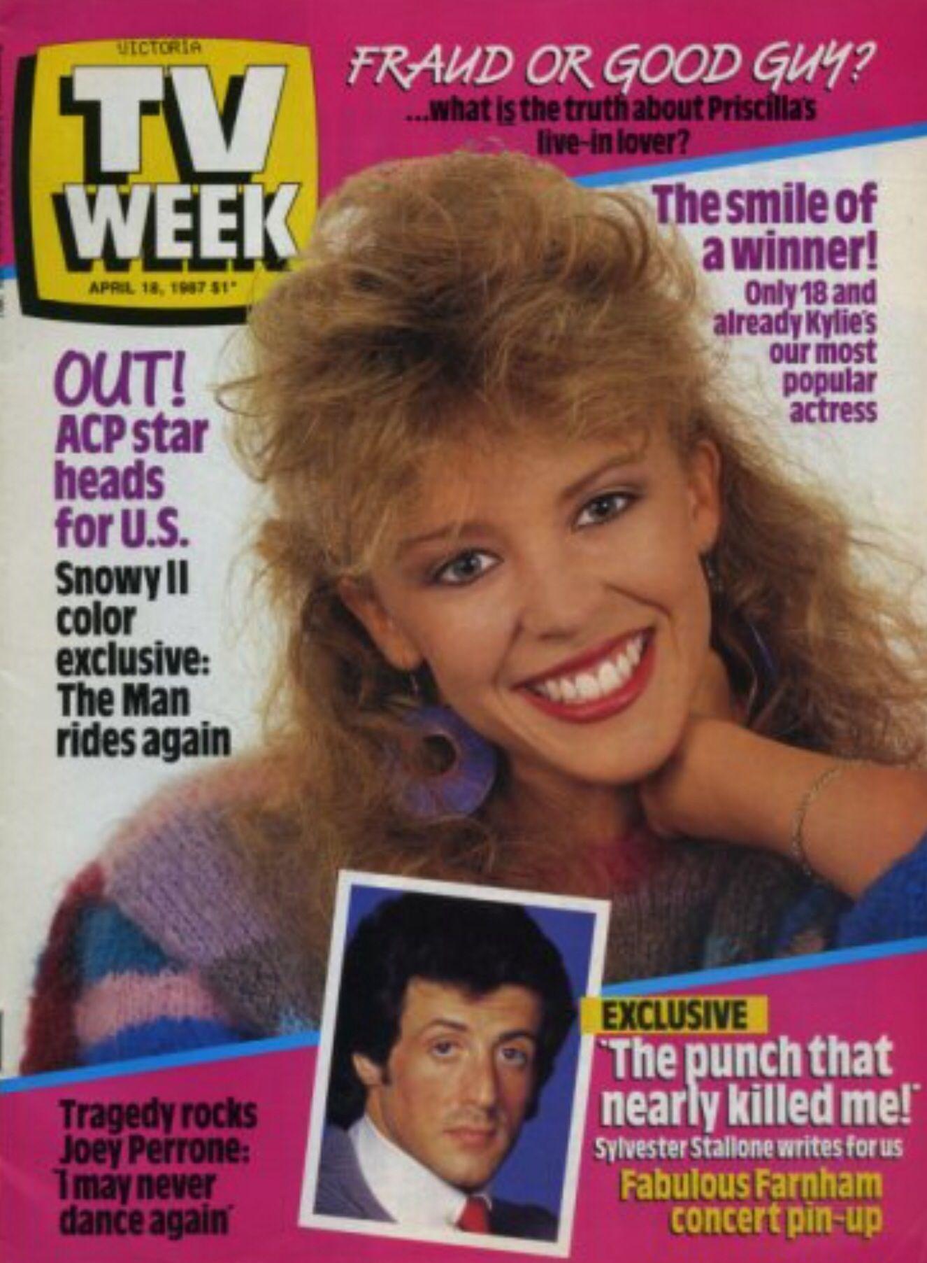 TV Week Australia 18 April 1987 Kylie Minogue