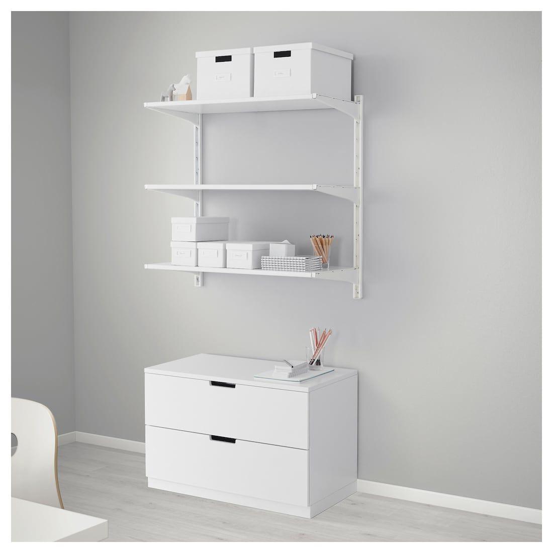 Algot Wall Upright Shelves White 33 7 8x16 1 8x33 1 2 Ikea