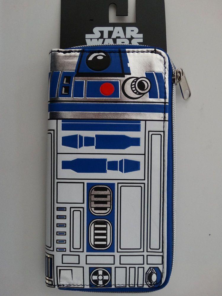 Star Wars R2D2  Large Zip Around Wallet NWT  #StarWars #ZipAroundWallet
