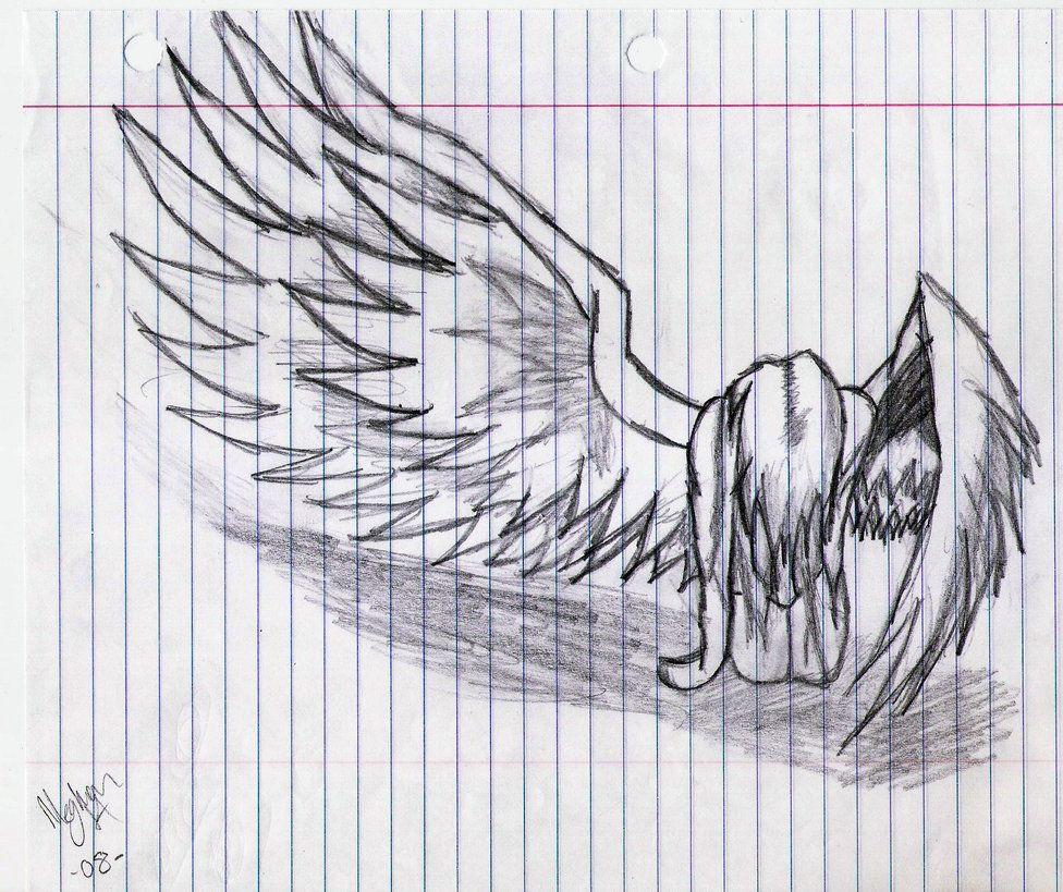 fallen angel drawing - Google Search