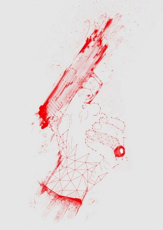a pretty cool way of drawing someone shooting a gun
