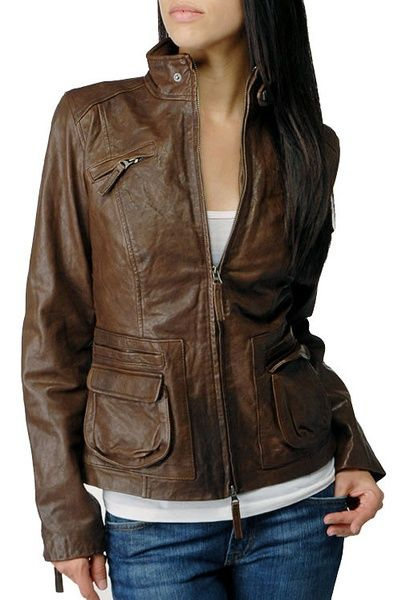 797ba380210f Buy Handmade Women Brown color leather jacket, women,s leather coat, New ladies  leather jacket at Wish - Shopping Made Fun