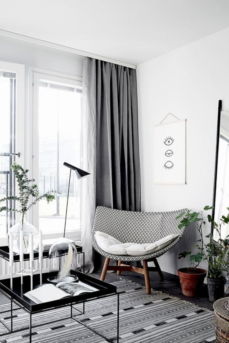 55+ Stylish Living Room Curtains Ideas Blinds | Living room curtains ...