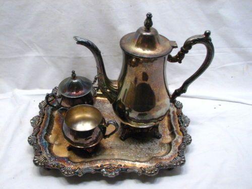 Oneida Sterling Silver Tea Sets   Vintage Oneida Silver Plate Tea ...