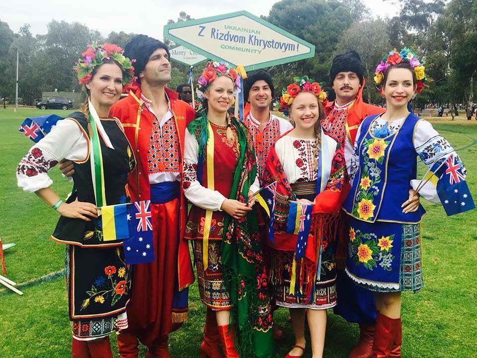 Volya Ukrainian Cossack Dancers Participated Local Christmas Parade Adelaide Dance