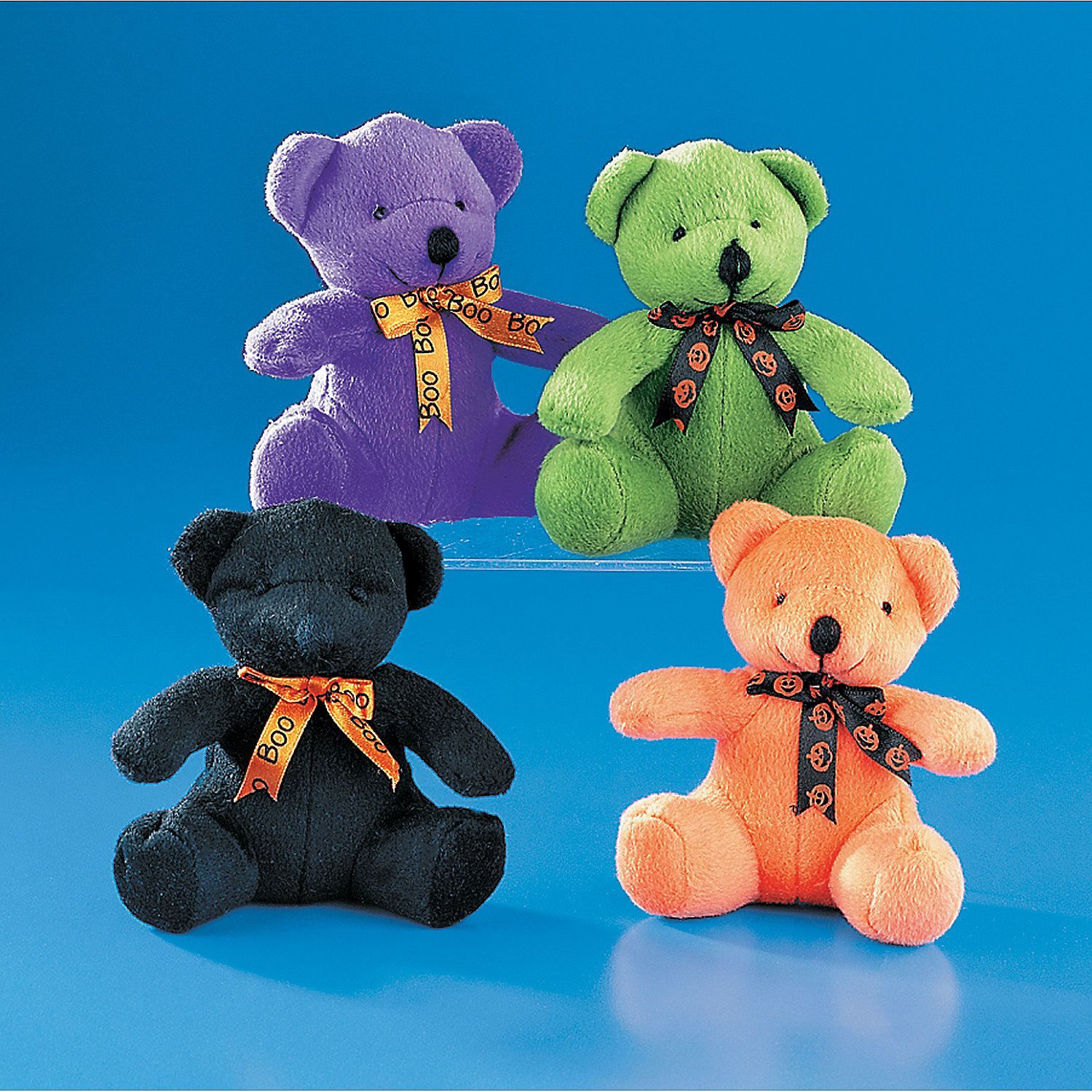 Halloween Stuffed Bears with Ribbons Halloween favors