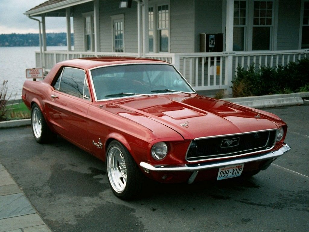 Ford Mustang Coupe 302 V8 Oldtimer 1967 Horsepower Pinterest 1968 Rot Auto Bild Idee Super Cars And
