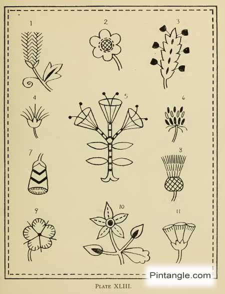 Hand Embroidery Pattern Of Flowers Embroidery Designs Pinterest