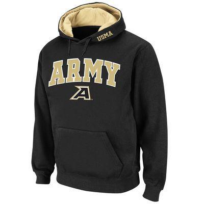 Men's Stadium Athletic Black Army Black Knights Arch & Logo Pullover Hoodie