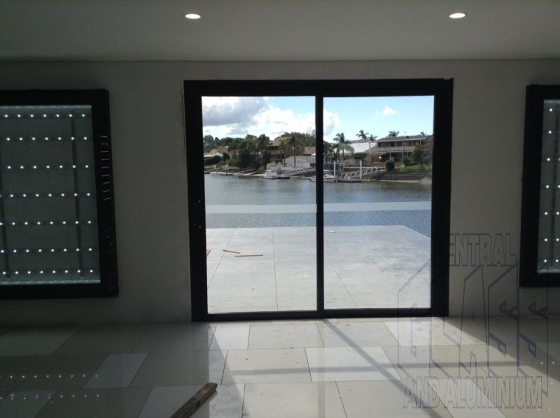 The view through our Capral 900 series Sliding Door at the new Marina Shores sales office & The view through our Capral 900 series Sliding Door at the new ...