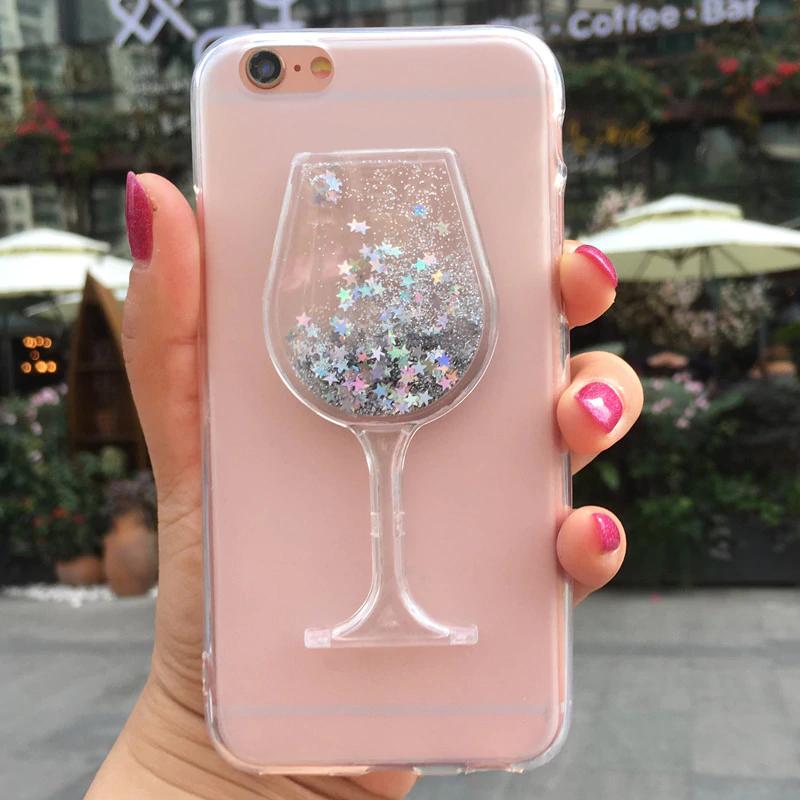 Cute Liquid Glitter Quicksand Case For Huawei P6 P7 P8 P9 P10 P20 ...