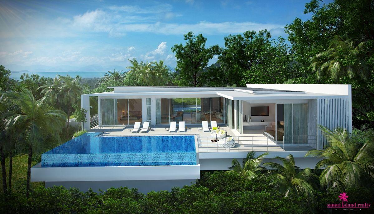 Unique 3 Bedroom Pool Villas Samui Island Realty Mountain