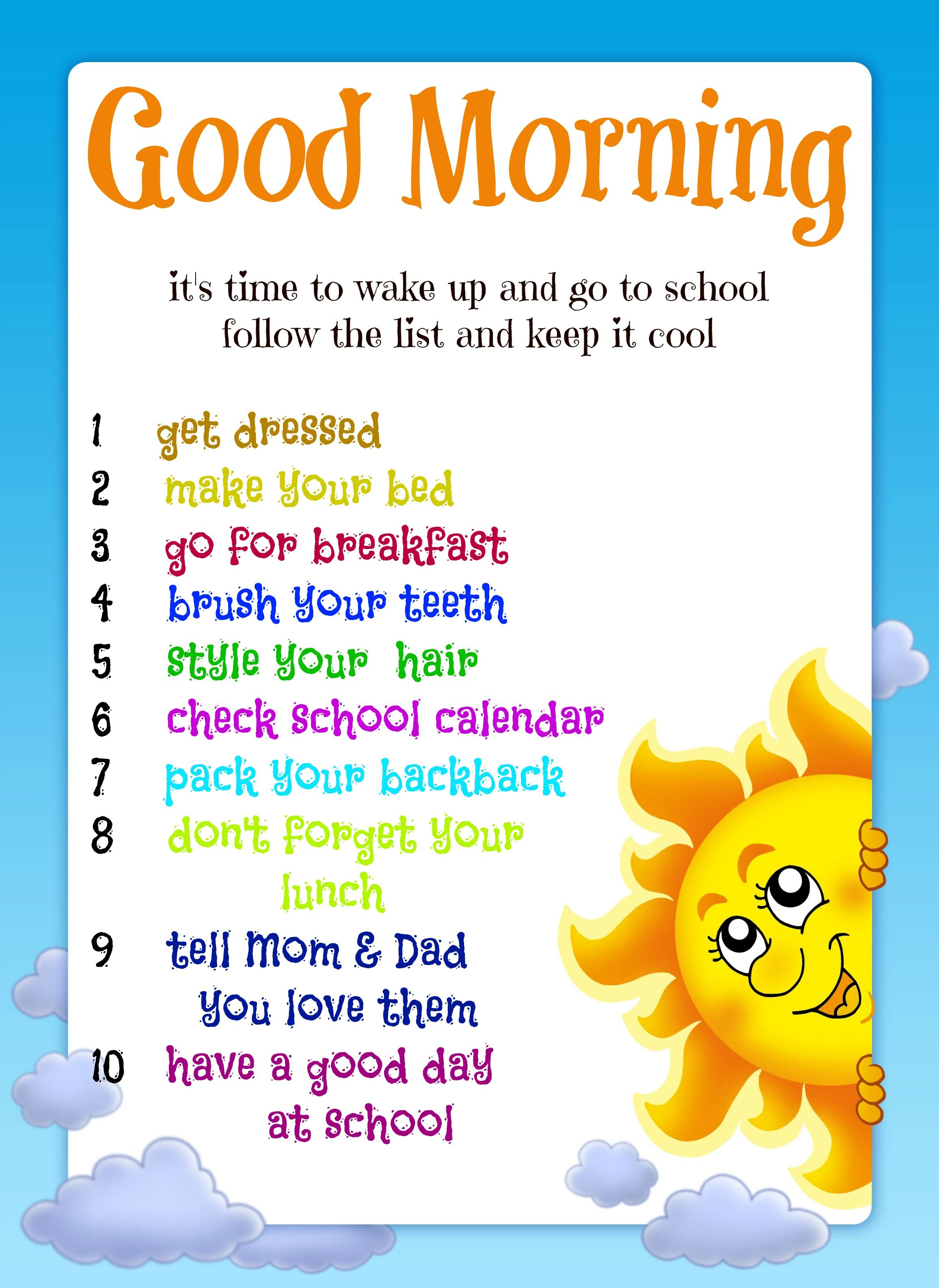 Good Morning Routine Printable Link Also Includes Bedtime