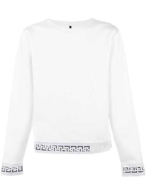 VERSUS printed sheath sweatshirt. #versus #cloth #스웨트셔츠