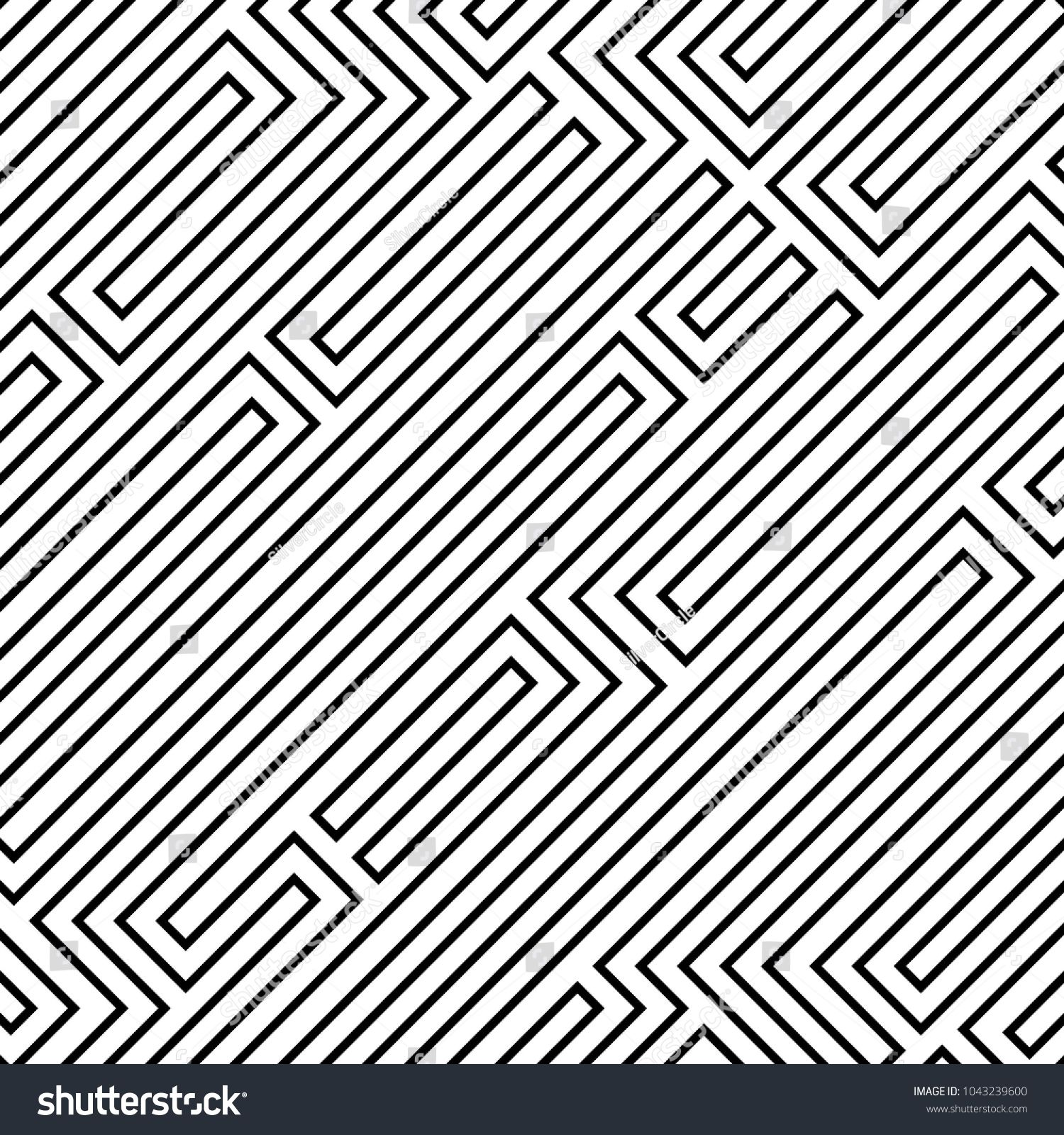 Abstract vector background design with maze mosaic texture