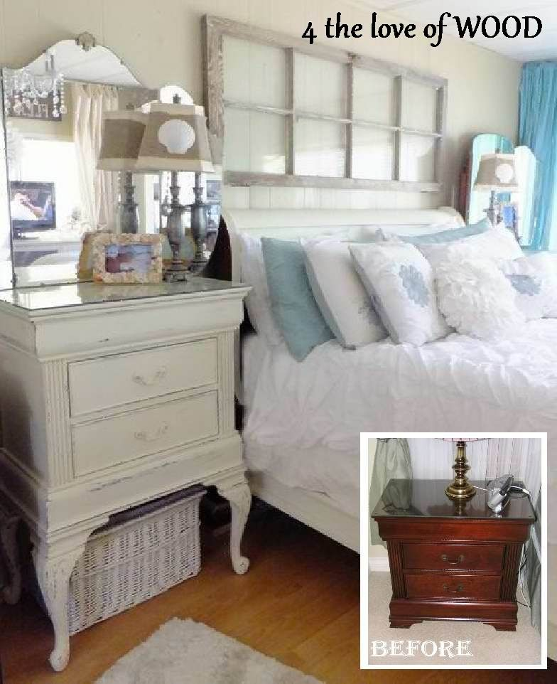 put queen anne legs on a little nightstand to raise it up.....genius!
