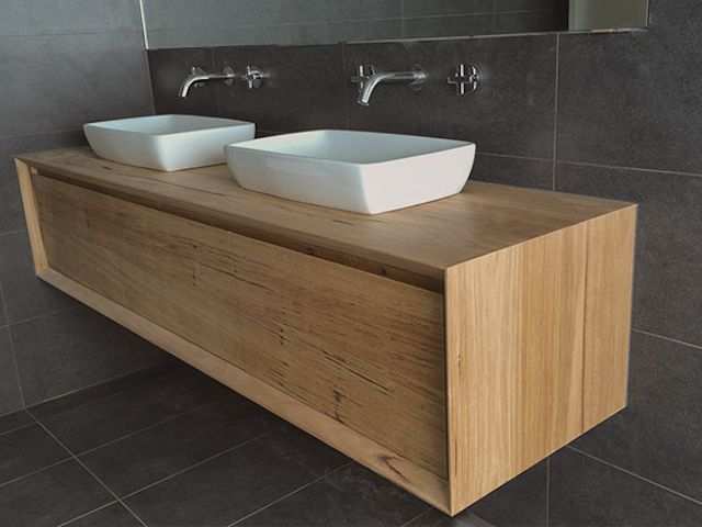 Wormy Chestnut Floating Vanity By Tim Sykes Design Wormy Chestnut Vanity Bathroom Floating
