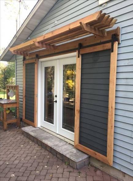 backyard patio awning french doors
