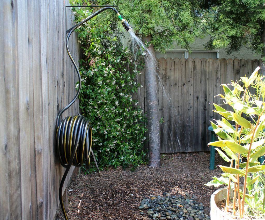 diy outdoor shower plans