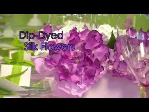 Youtube ladies event pinterest artificial flowers dyed silk how to dip dye silk flowers mightylinksfo