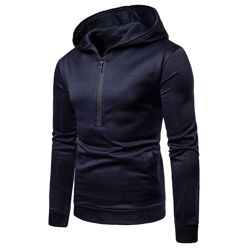 d086ec1c8 Shop for 2018 Men's Casual Personality Long-Sleeved Hooded Color Matching Fashion  Slim in BLACK XL online at $20.89 and disc…