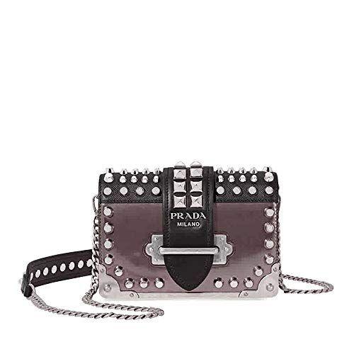 a440c56a41aa SALE PRICE - $2249 - Prada Cahier Medium Leather Crossbody - Black A Prada  crossbody from