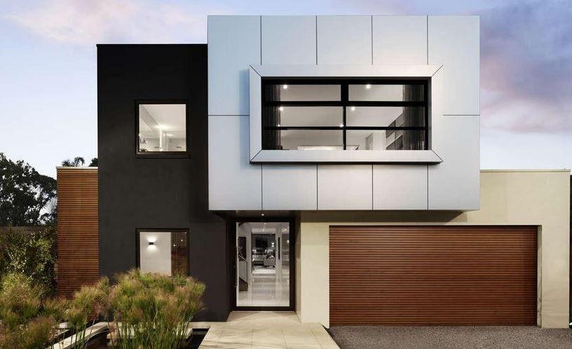 Fachadas de casas modernas de color gris casas for Colores de casas minimalistas