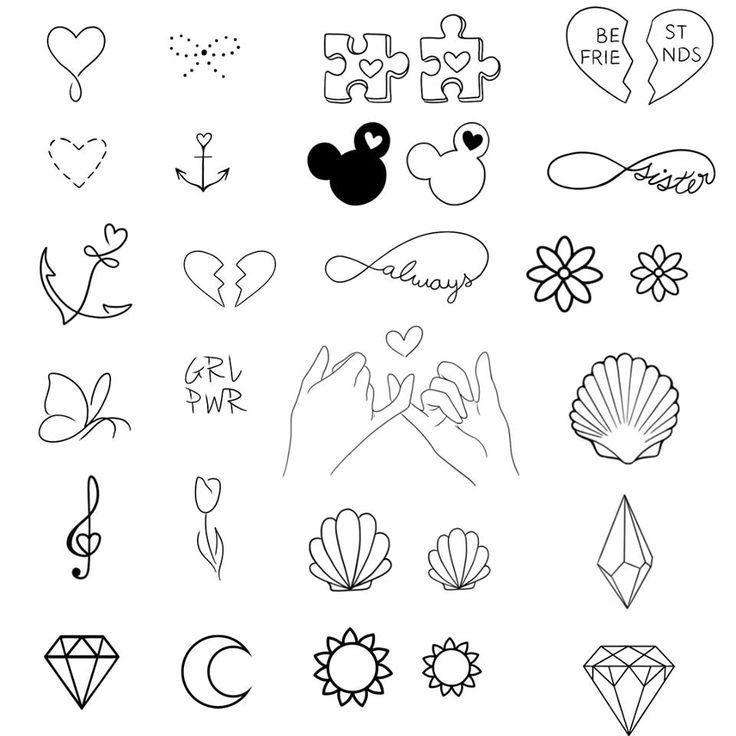 500 Feminine Tatowierungen Tattoo Flash Vorlagen